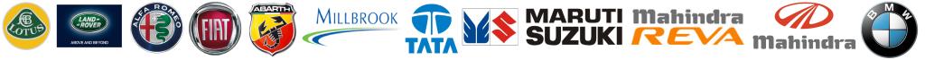 Pro2 - Our Clients - Lotus - Land Rover - Alfa Romeo - Fiat - Arbarth - Millbrook - Tata - Maruti Suzuki - Mahindra REVA - Mahindra - BMW